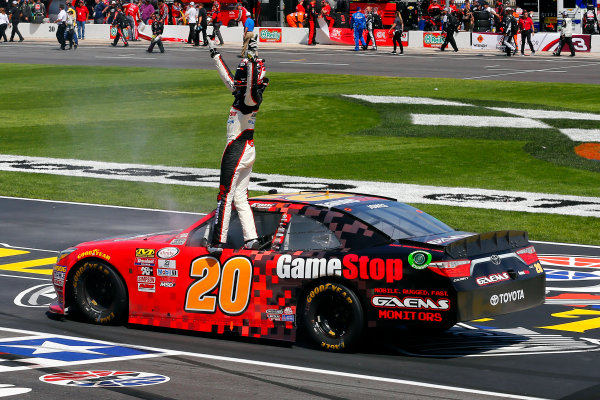 2017 NASCAR Xfinity Series My Bariatric Solutions 300 Texas Motor Speedway, Fort Worth, TX USA Saturday 8 April 2017 Erik Jones, Game Stop/ GAEMS Toyota Camry celebrates his win  World Copyright: Russell LaBounty/LAT Images ref: Digital Image 17TEX1rl_2634