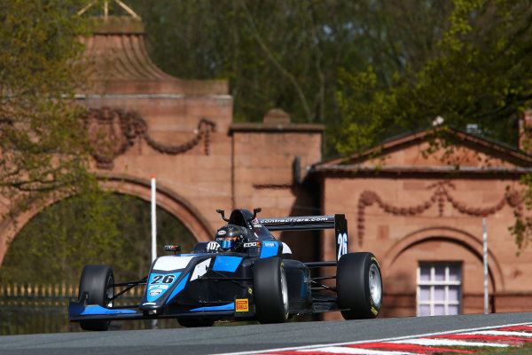 2017 BRDC British F3 Championship, Oulton Park, Cheshire. 15th - 187th April 2017. Harry Hayek (AUS) Double R Racing BRDC F3. World Copyright: JEP/LAT Images.