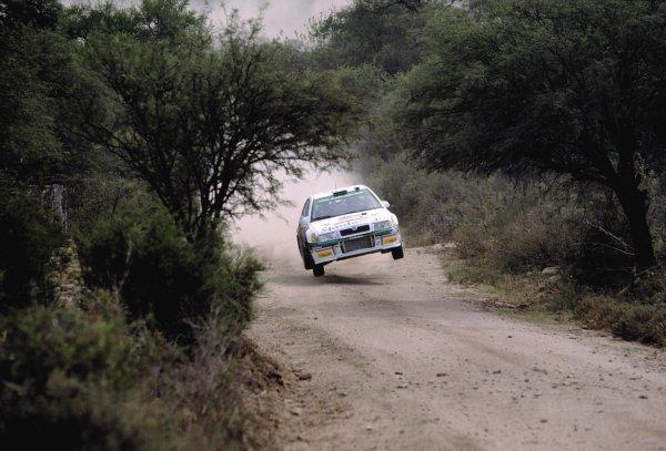 2003 World Rally ChampionshipRally Argentina, Cordoba, Argentina, 7th - 11th May 2003.Didier Auriol/denis Giraudet (Skoda Octavia WRC Evo3), action.World Copyright: LAT Photographicref: 03WRCArg13