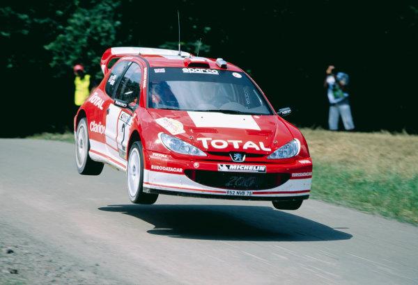 2003 World Rally ChampionshipRally Deutschland, Germany. 25th - 27th July 2003.Richard Burns / Robert Reid (Peugeot 206 WRC), action.World Copyright: McKlein/LAT Photographicref: 35mm Image A20