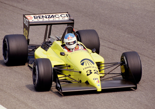 1987 Italian Grand Prix.Monza, Italy.4-6 September 1987.Nicola Larini (Coloni FC187 Ford).Ref-87 ITA 26.World Copyright - LAT Photographic