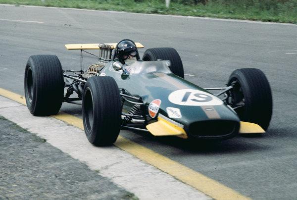 1968 Belgian Grand Prix.Spa-Francorchamps, Belgium.7-9 June 1968.Jochen Rindt (Brabham BT26 Repco).Ref-68 BEL 15.World Copyright - LAT Photographic