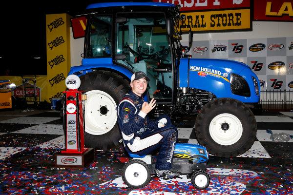 17-18 June, 2016, Newton, Iowa USA William Byron celebrates in victory lane  ?2016, Russell LaBounty LAT Photo USA