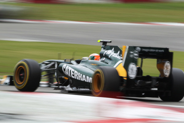 Karun Chandhok (IND) Team Lotus T128. Formula One World Championship, Rd 10, German Grand Prix, Practice Day, Nurburgring, Germany, Friday 22 July 2011.