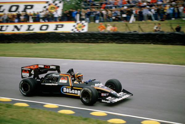 Brands Hatch, England.20-22 July 1984.Stefan Bellof, Tyrrell 012-Ford, disqualified, action.World Copyright - LAT Photographic