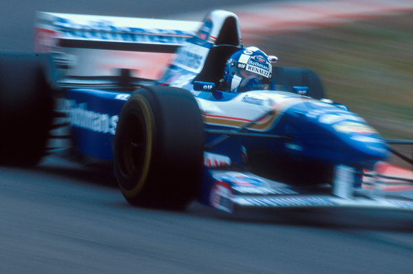 Spa-Francorchamps, Belgium.25-27 August 1995.David Coulthard (Williams FW17 Renault). He exited the race when his gearbox lost its oil. Ref-95 BEL 07.World Copyright - LAT Photographic