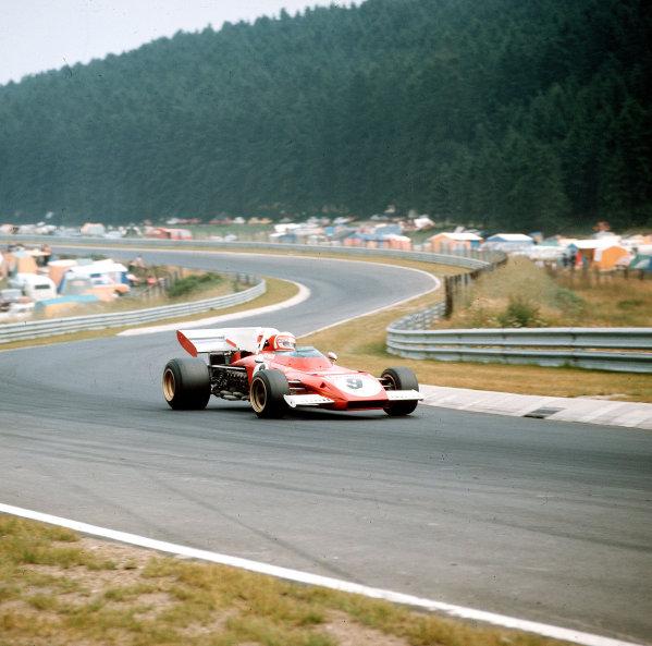 Nurburgring, Germany.28-30 July 1972.Clay Regazzoni (Ferrari 312B2) 2nd position.Ref-3/5126D.World Copyright - LAT Photographic