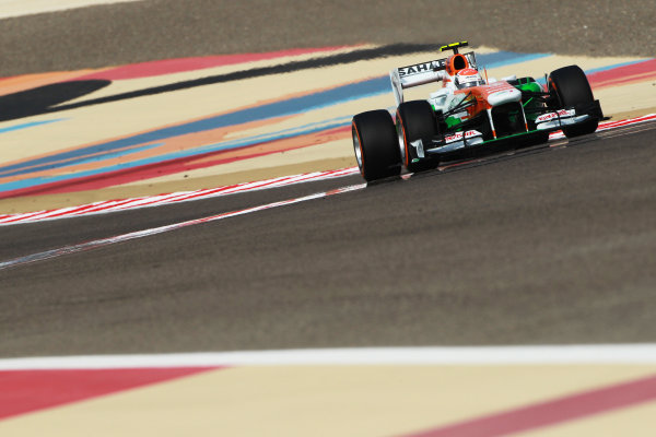 Bahrain International Circuit, Sakhir, Bahrain Sunday 21st April 2013 Adrian Sutil, Force India VJM06 Mercedes.  World Copyright: Andy Hone/LAT Photographic ref: Digital Image HONY1208