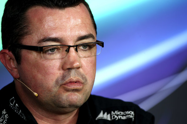 Albert Park, Melbourne, Australia Friday 15th March 2013 Eric Boullier, Team Principal, Lotus F1, in a Press Conference. World Copyright: Andy Hone/  ref: Digital Image HONY5083