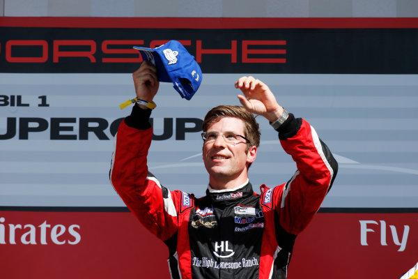 2014 Porsche Supercup. Sunday 2 November 2014. Michael Ammermuller, No.4 Lechner Racing Team, 1st Position. World Copyright: /LAT Photographic. ref: Digital Image _W2Q7147
