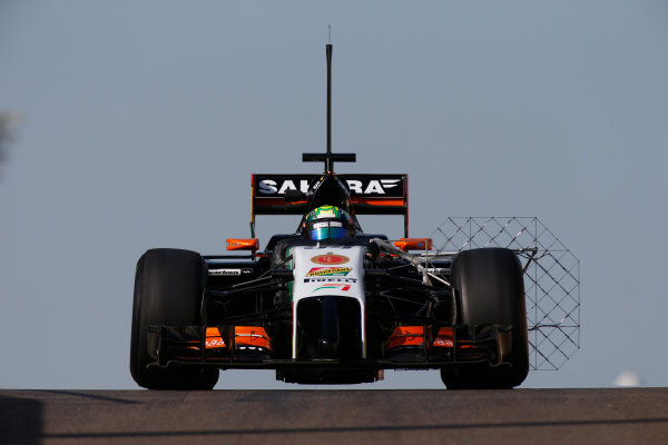 Yas Marina Circuit, Abu Dhabi, United Arab Emirates. Wednesday 26 November 2014. Spike Goddard, Force India VJM07 Mercedes.  World Copyright: Glenn Dunbar/LAT Photographic. ref: Digital Image _89P9948