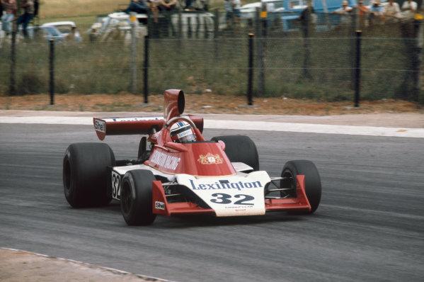 Kyalami, South Africa. 27/2-1/3 1975. Ian Scheckter, Tyrrell 007 Ford. Ref: 75SA03. World Copyright - LAT Photographic