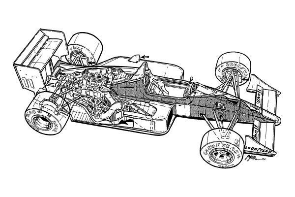 McLaren MP4-4 1988 overall view