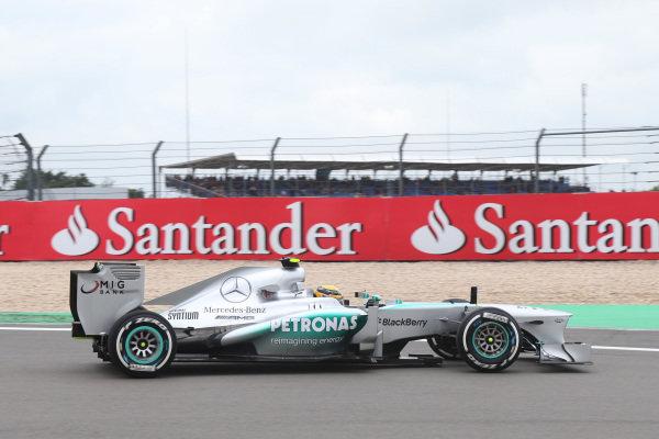 Lewis Hamilton (GBR) Mercedes AMG F1 W04. Formula One World Championship, Rd9, German Grand Prix, Practice, Nurburgring, Germany, Friday 5 July 2013.