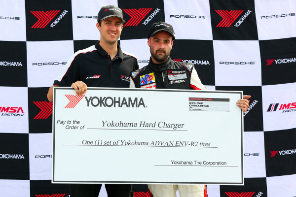 10-12 July 2015, Bowmanville, Ontario Canada Race 2, GT3 Cup USA, Yokohama Hard Charger Award ?2015, Jake Galstad LAT Photo USA
