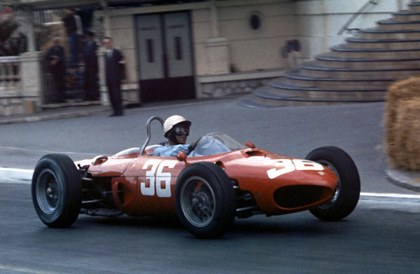 Phil Hill (USA) Ferrari 156. Formula One World Championship, Rd2, Monaco Grand Prix, Monte Carlo, Monaco, 3 June 1962.