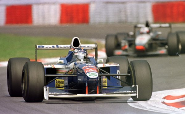 1997 Italian Grand Prix.Monza, Italy.5-7 September 1997.Heinz-Harald Frentzen (Williams FW19 Renault) leads David Coulthard (McLaren MP4/12 Mercedes-Benz). They finished in 2nd and 1st positions respectively.World Copyright - Elford/LAT Photographic