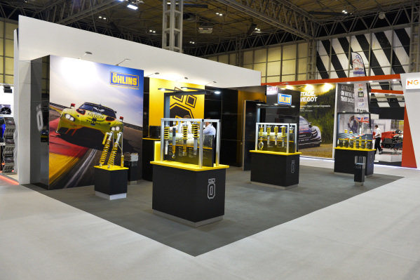 The Ohlins stand.
