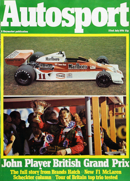 Cover of Autosport magazine, 22nd July 1976