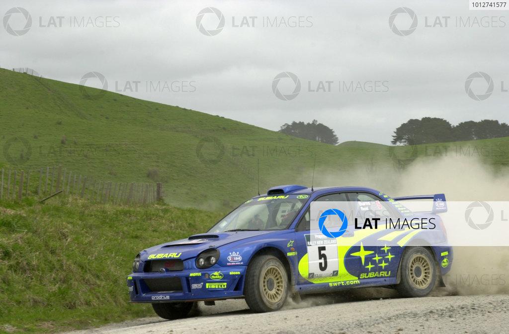2001 World Rally Championship.Rally of New Zealand. September 20-23, 2001.Auckland, New Zealand.Richard Burns during shakedown.Photo: Ralph Hardwick/LAT