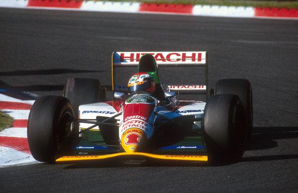 1993 Belgian Grand Prix.Spa-Francorchamps, Belgium.27-29 August 1993.Johnny Herbert (Lotus 107B Ford) 5th position.Ref-93 BEL 08.World Copyright - LAT Photographic
