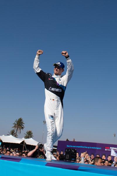 Maximilian Günther (DEU), BMW I Andretti Motorsports, 2nd position, on the podium