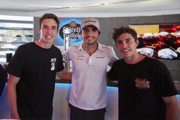 Alex Marquez, Carlos Sainz Jr, McLaren, and Marc Marquez