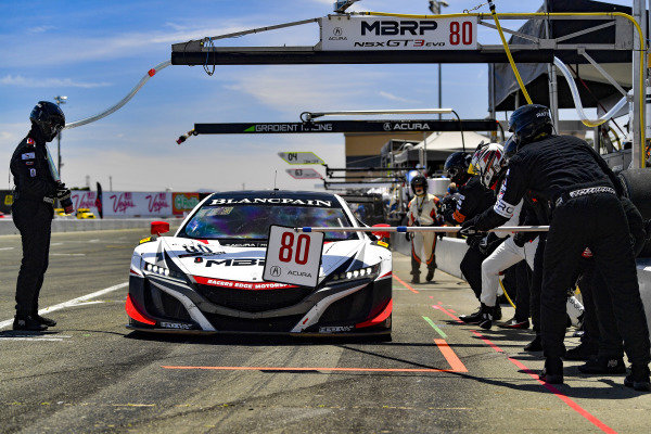 #80 Acura NSX of Martin Barkey and Kyle Marcelli