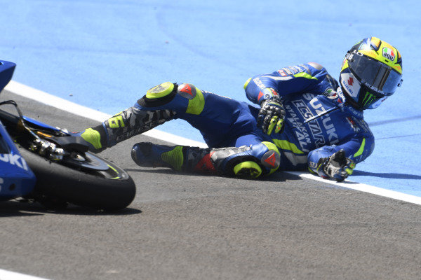 Joan Mir, Team Suzuki MotoGP crash.