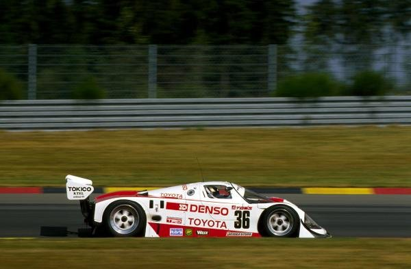 Johnny Dumfries (GBR) TOM'S Toyota 90 CV finished in 18th place.