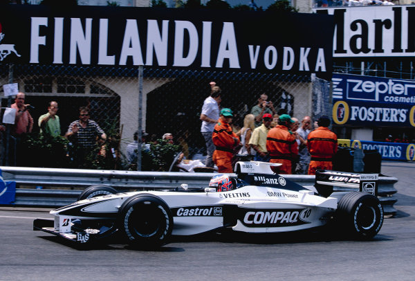 2000 Monaco Grand Prix.Monte Carlo, Monaco. 1-4 June 2000.Jenson Button (Williams FW22 BMW) at Rascasse.Ref-2K MON 75.World Copyright - Lorenzo Bellanca/LAT Photographic