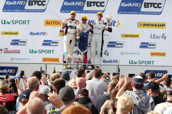 Tom Oliphant (GBR) WSR BMW , Jake Hill (GBR) Trade Price Cars Audi and Stephen Jelley (GBR) Team Parker Racing BMW