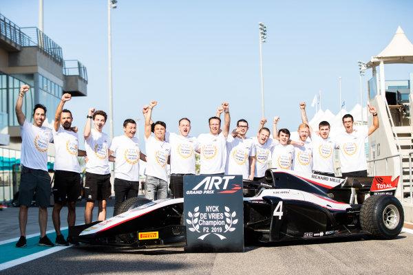 ART Grand Prix celebrate winning FIA Formula 2 Drivers championship with Nyck De Vries (NLD, ART GRAND PRIX)