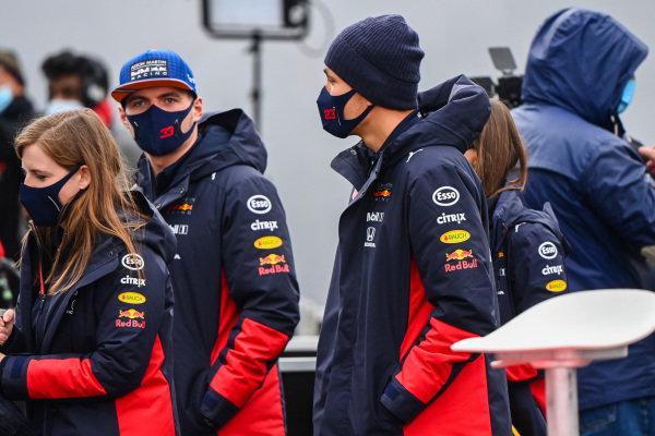 Max Verstappen, Red Bull Racing and Alexander Albon, Red Bull Racing