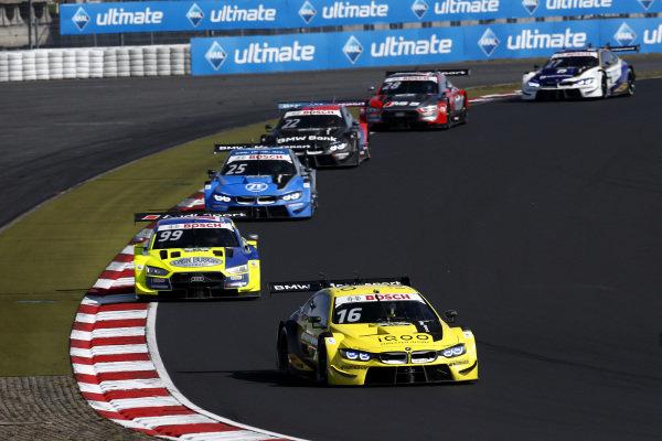 Timo Glock, BMW Team RMG, BMW M4 DTM, Mike Rockenfeller, Audi Sport Team Phoenix, Audi RS 5 DTM, Philipp Eng, BMW Team RBM, BMW M4 DTM.