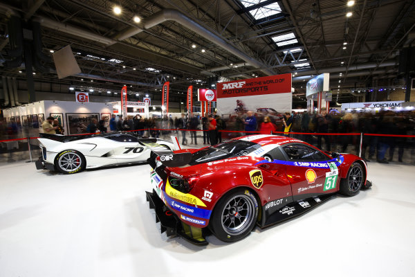 Autosport International Exhibition. National Exhibition Centre, Birmingham, UK. Sunday 14th January 2018. The Ferrari stand.World Copyright: Mike Hoyer/JEP/LAT Images Ref: AQ2Y9722