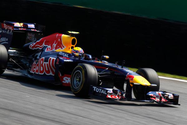 Interlagos, Sao Paulo, Brazil. 25th November 2011. Mark Webber, Red Bull Racing RB7 Renault. Action. World Copyright:Steven Tee/LAT Photographic ref: Digital Image _A8C7821