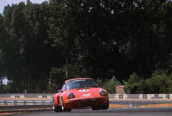 Le Mans, France. 12 - 13 June 1976 Tom Waugh/John Rulon-Miller/Pierre Laffeach (Porsche Carrera RSR), 14th position, action. World Copyright: LAT PhotographicRef: 76LM39.