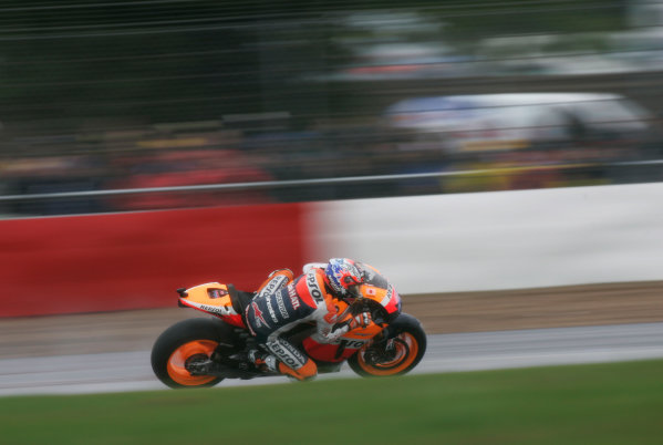 British Grand Prix.  Silverstone, England. 10th-12th June 2011.  Casey Stoner, Honda. Action.  World Copyright: Kevin Wood/LAT Photographic.  ref: Digital Image