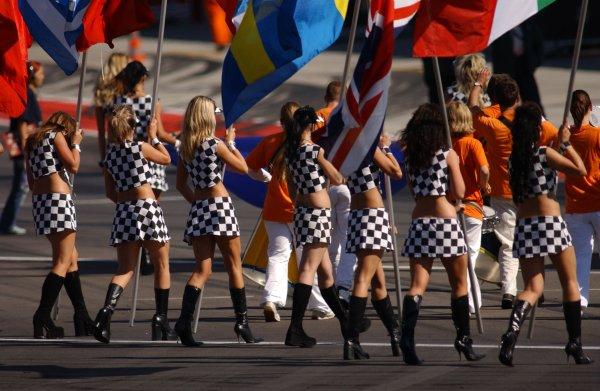 2005 DTM ChampionshipLausitz, Germany. 17th - 18th September 2005Grid girls - atmosphere.World Copyright: Andre Irlmeier / LAT Photographicref: Digital Image Only
