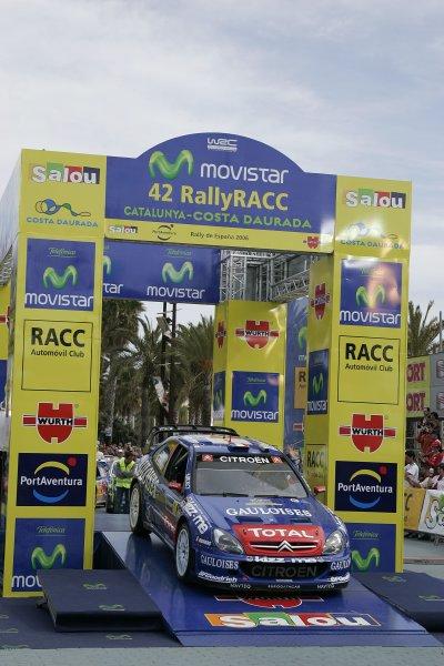 2006 FIA World Rally Champs. Round four Rally Catalunya Spain. 24-26th March 2006Sebastian Loeb, Citroen, podium.World Copyright: Mcklein/LAT