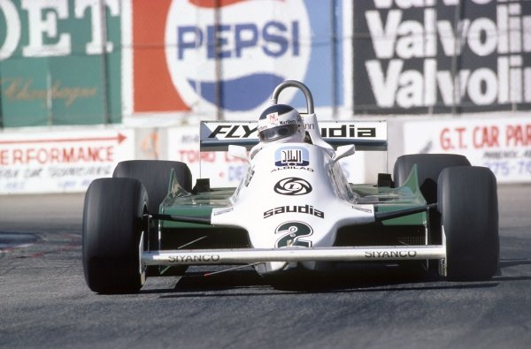 1981 United States Grand Prix West.Long Beach, California, USA. 13-15 March 1981.Carlos Reutemann (Williams FW07C-Ford Cosworth), 2nd position.World Copyright: LAT PhotographicRef: 35mm transparency 81LB23