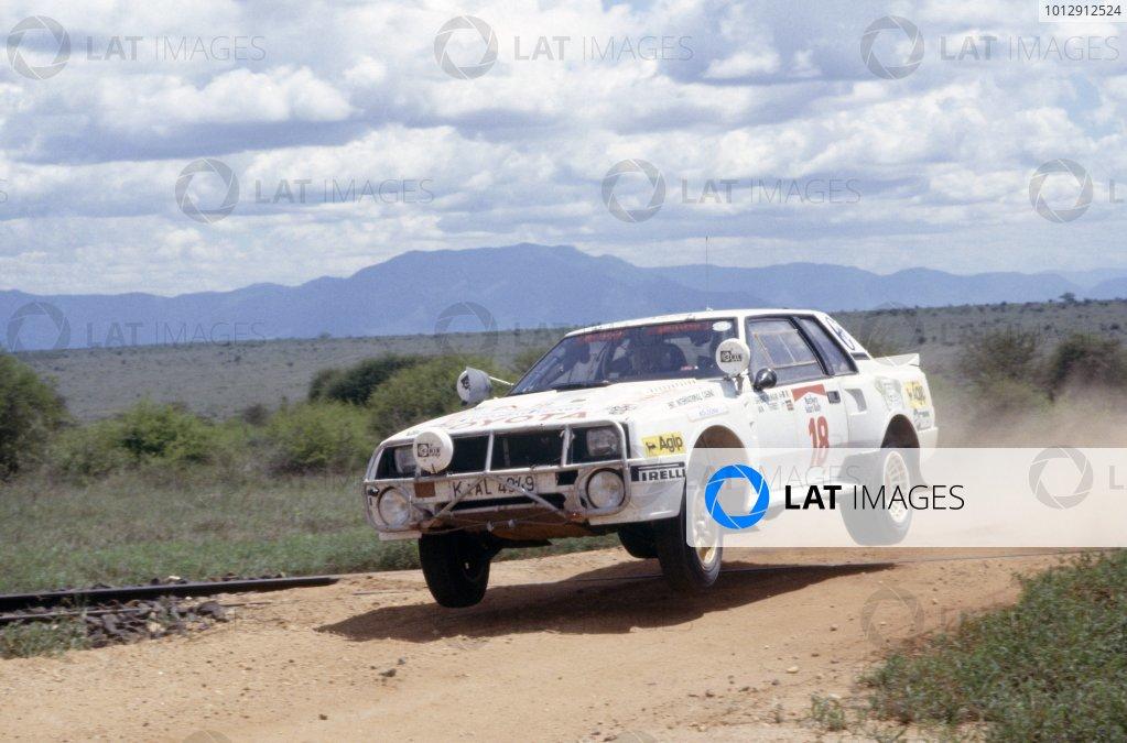 1984 World Rally Championship.Safari Rally, Kenya. 19-23 April 1984.Sandro Munari/Ian Street (Toyota Celica TCT), retired.World Copyright: LAT PhotographicRef: 35mm transparency 84RALLY11