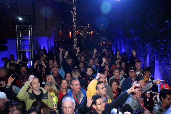 Fans at the FOTA Austin Fans Forum. FOTA Austin Fans Forum, Cedar Street Courtyard, Austin, Texas, Wednesday 13 November 2013.