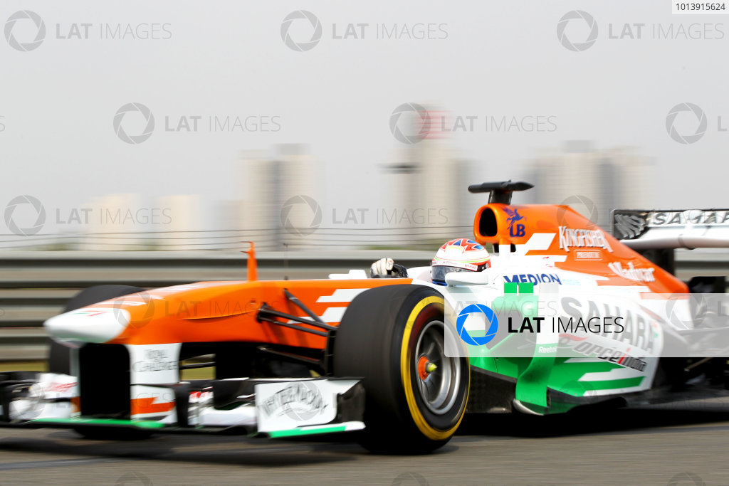 Shanghai International Circuit, Shanghai, China Saturday 13th April 2013 Paul di Resta, Force India VJM06 Mercedes.  World Copyright: Andy Hone/LAT Photographic ref: Digital Image HONY6143