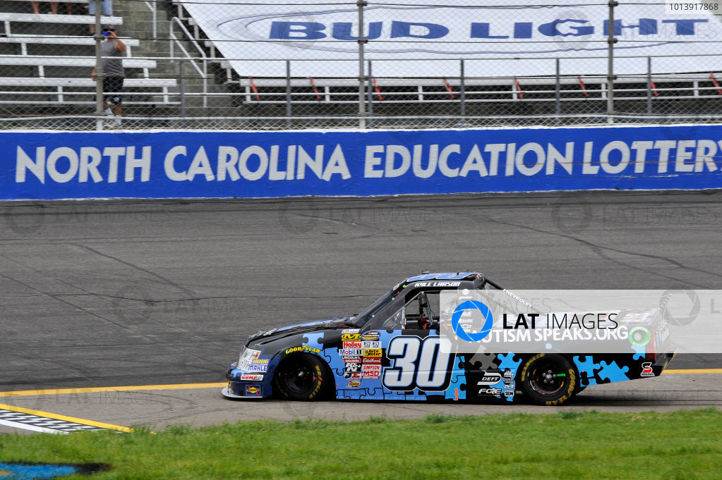 13-14 April, 2013, Rockingham, North Carolina USA Kyle Larson celebrates the win ©2013, Scott R LePage LAT Photo USA