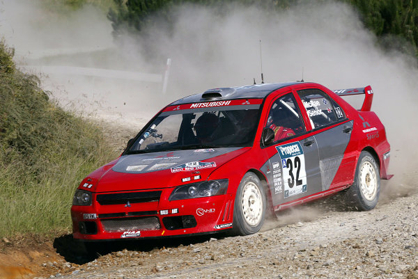 2003 FIA World Rally Champs. Round Four, New Zealand, 10th - 13th April 2003 Alister McRae, Mitsubishi action. World Copyright: McKlein/LAT