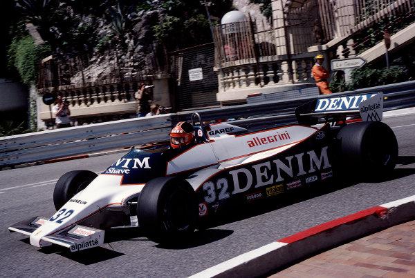 1981 Monaco Grand Prix. Monte Carlo, Monaco. 28-31 May 1981. Piercarlo Ghinzani (Osella F1B Ford). Ref-81MON75. World Copyright - LAT Photographic