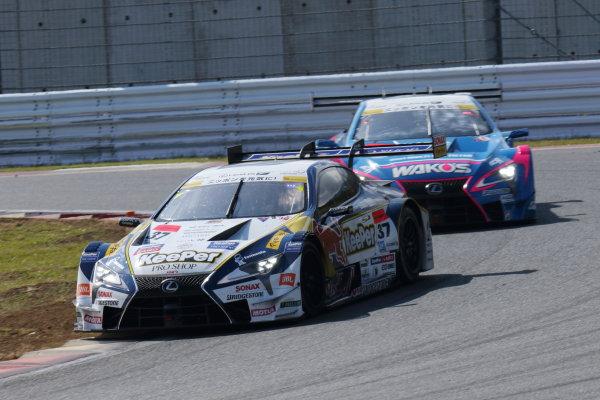 2017 Japanese Super GT Series. Fuji, Japan. 6th - 7th April 2017. Rd 2. GT500 3rd position Ryo Hirakawa & Nick Cassidy ( #37  KeePer TOM'S LC500 ) action World Copyright: Yasushi Ishihara / LAT Images. Ref: 2017SGT_Rd2_07
