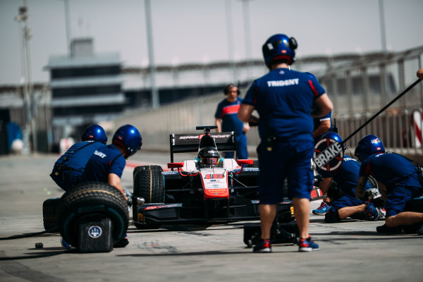 Bahrain International Circuit, Sakhir, Bahrain. Wednesday 29 March 2017 Nabil Jeffri (MAS) Trident  Photo: Malcolm Griffiths/FIA Formpula 2 ref: Digital Image MALC4731 2